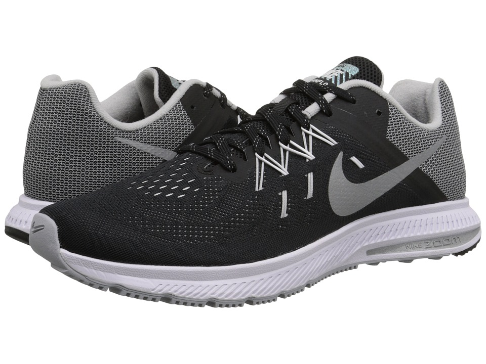 Nike - Zoom Winflo 2 Flash (Black/White/Reflect Silver) Men's Running Shoes