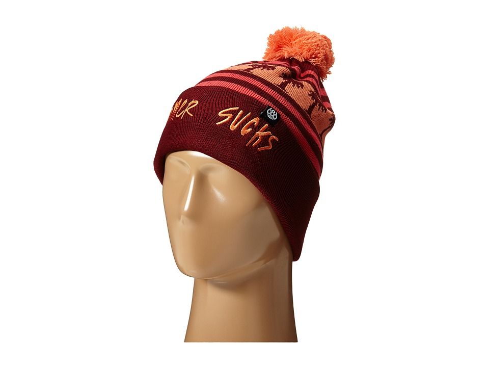 686 - Summer Sucks Beanie (Wine) Beanies