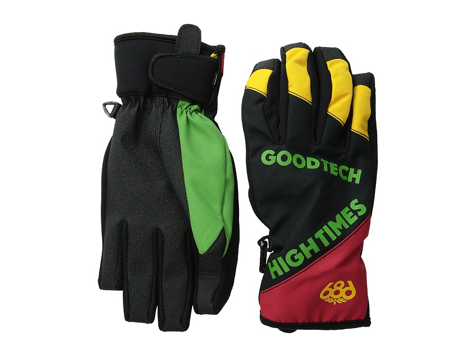 686 - Icon Pipe Glove (Rasta) Extreme Cold Weather Gloves