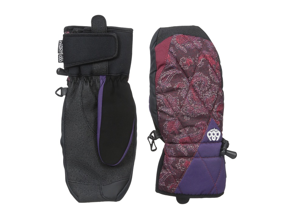 686 - Deco Mitt (Wine Paisley) Extreme Cold Weather Gloves