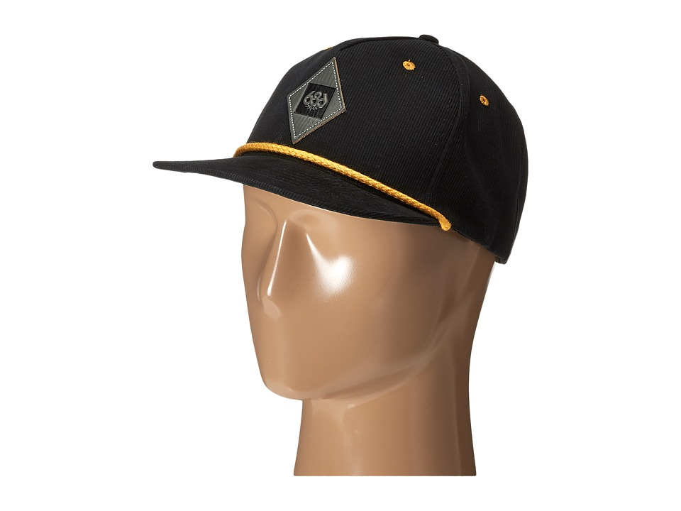 686 - Patrol Snapback Hat (Black) Caps