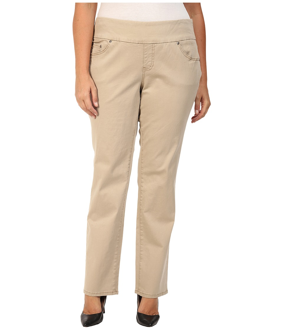 Jag Jeans Plus Size - Plus Size Peri Pull On Straight Jeans in British Khaki (British Khaki) Women's Jeans
