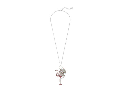Betsey Johnson - Ocean Drive Pink Flamingo Long Necklace (Pink/Crystal) Necklace