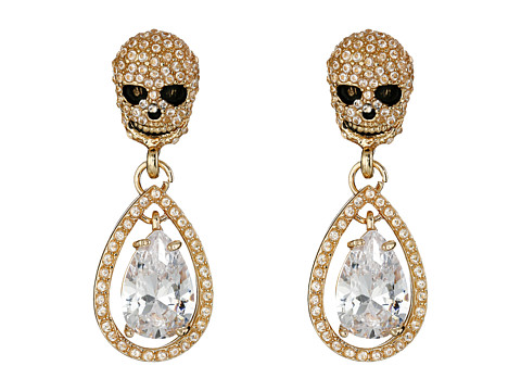 Betsey Johnson - All That Glitters Cubic Zirconia Gold Earrings (Crystal 2) Earring
