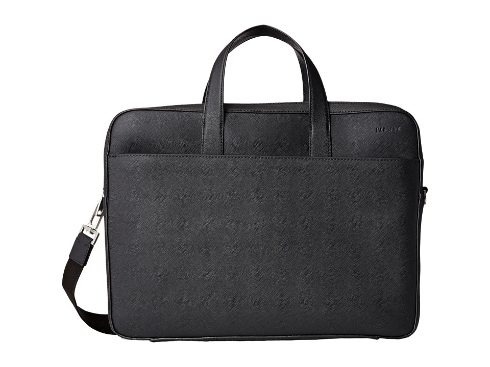 Jack Spade - Barrow Leather Travel Brief (Black) Briefcase Bags