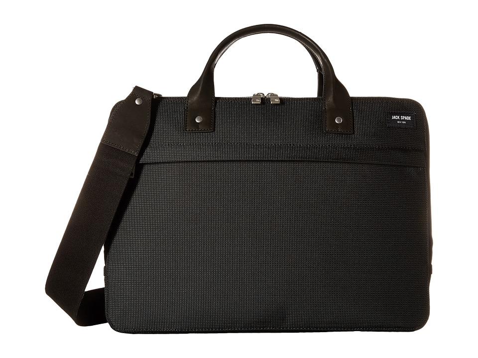 Jack Spade - Luggage Nylon Slim Brief (Black) Briefcase Bags