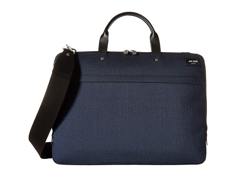 Jack Spade - Slim Brief (Navy) Briefcase Bags
