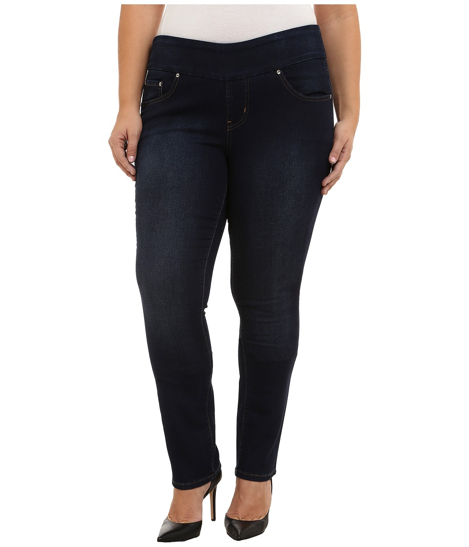 Jag Jeans Plus Size - Plus Size Nora Pull On Knit Denim Narrow Jeans in Dark Whale (Dark Whale) Women's Jeans plus size,  plus size fashion plus size appare