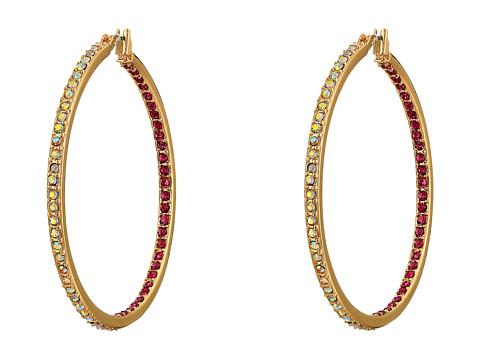 Betsey Johnson - Casino Royale Insideout Hoop Earrings (Pink/Crystal 5) Earring