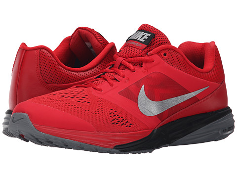 Nike - Tri Fusion Run (University Red/Black/Cool Grey/Metallic Silver) Men's Running Shoes