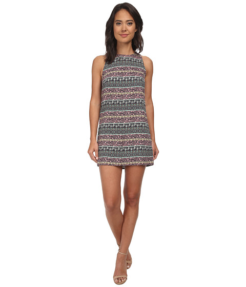Brigitte Bailey - Quinn Border Print Shift Dress (Navy) Women