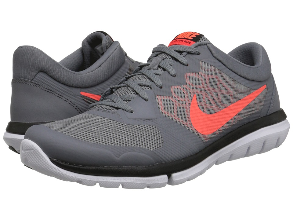 Nike - Flex 2015 RUN (Cool Grey/Bright Crimson/University Red/Hyper Orange) Men