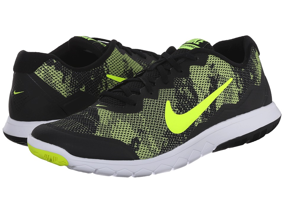 Nike - Flex Experience RN 4 Prem (Black/White/Volt) Men's Running Shoes