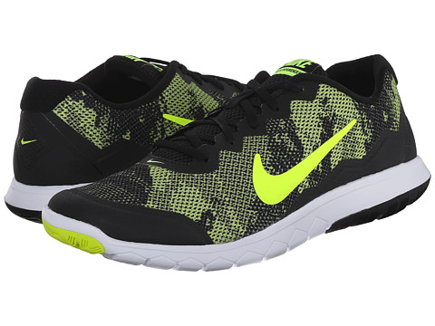 Nike - Flex Experience RN 4 Prem (Black/White/Volt) Men