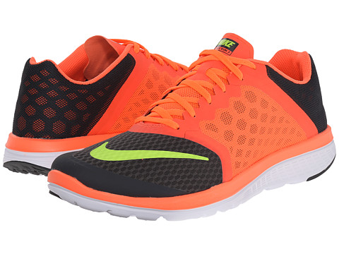 Nike - FS Lite Run 3 (Anthracite/Hyper Orange/White/Volt) Men