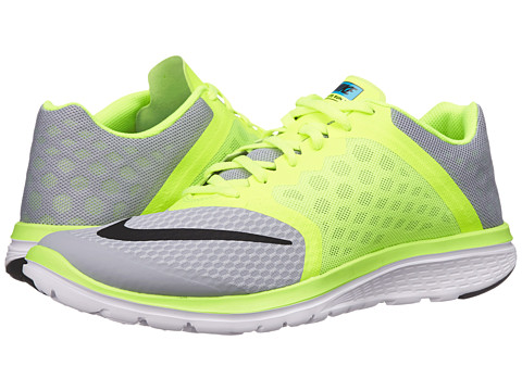 Nike - FS Lite Run 3 (Wolf Grey/Volt/Blue Lagoon/Black) Men's Running Shoes