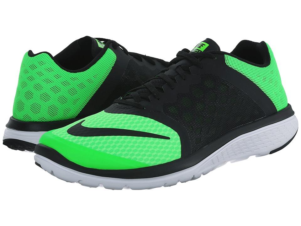 Nike - FS Lite Run 3 (Green Strike/Black) Men