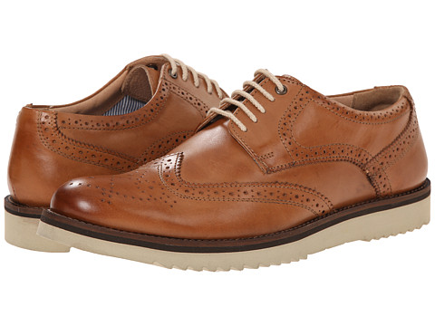 Lotus - Sherbourne (Burnished Tan Leather) Men's Lace Up Wing Tip Shoes