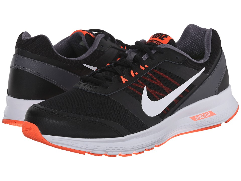Nike - Air Relentless 5 (Black/Hyper Orange/Dark Grey/White) Men