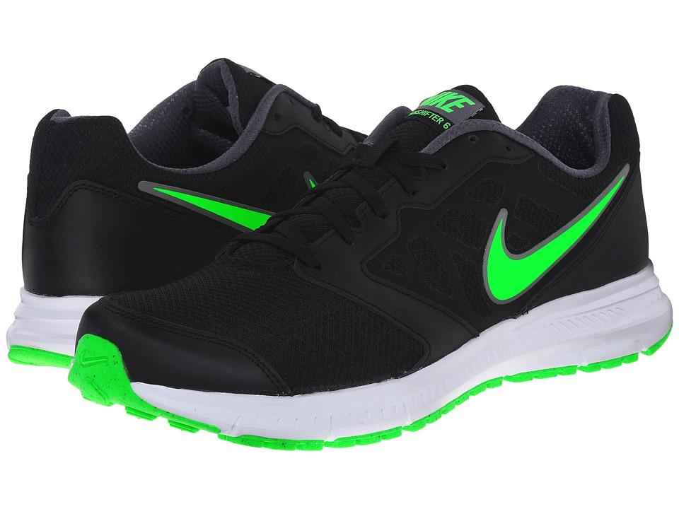 Nike - Downshifter 6 (Black/Metallic Dark Grey/White/Green Strike) Men