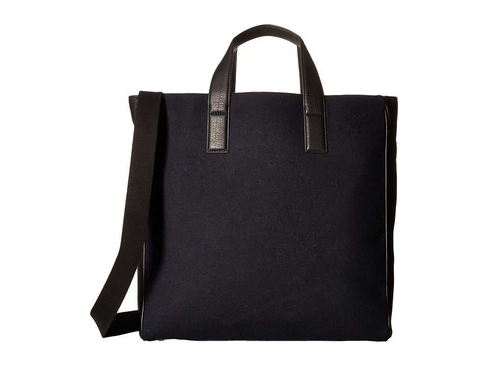 Jack Spade - Kahn Wool Leather Tote (Navy) Tote Handbags