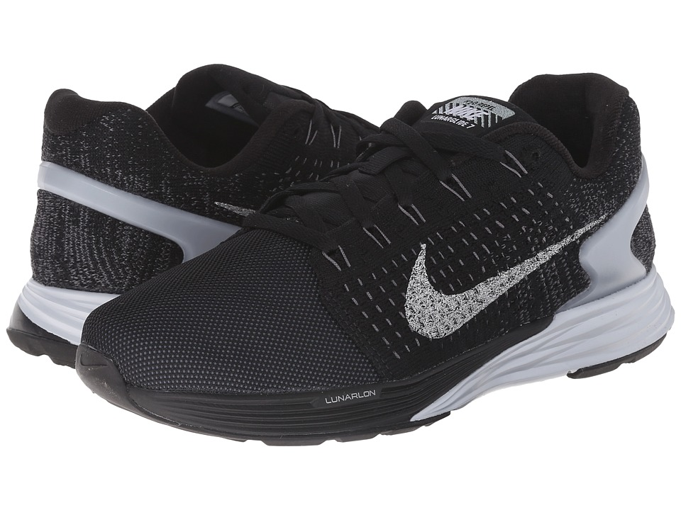 Nike - Lunarglide 7 Flash (Black/Pure Platinum/Dark Grey/Reflect Silver) Women
