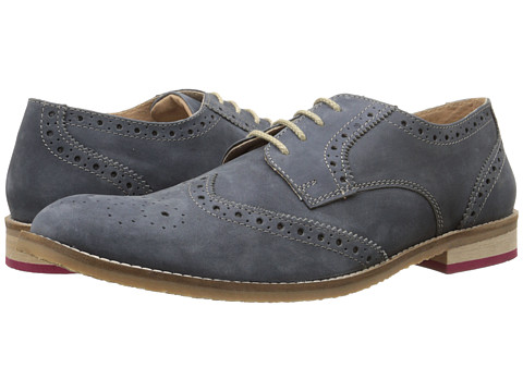 Lotus - Sandford (Navy Leather) Men's Lace Up Wing Tip Shoes