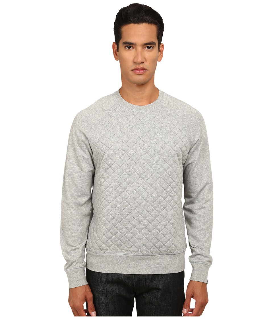 Jack Spade - Foxton Quilted Sweatshirt (Cement Heather Grey) Men