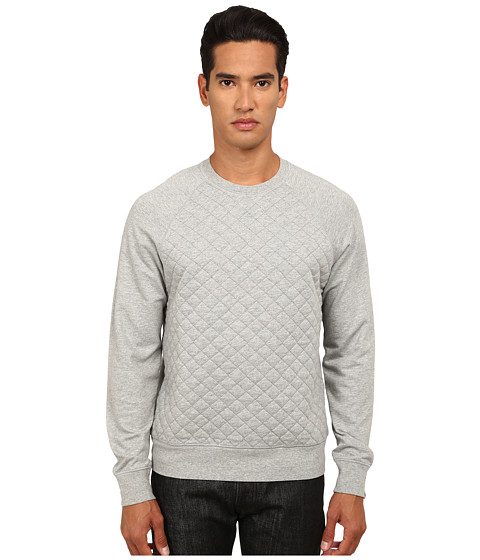 Jack Spade - Foxton Quilted Sweatshirt (Cement Heather Grey) Men's Sweatshirt