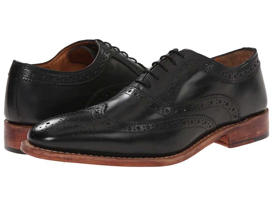 Lotus - Harry (Black Leather) Men's Lace Up Wing Tip Shoes