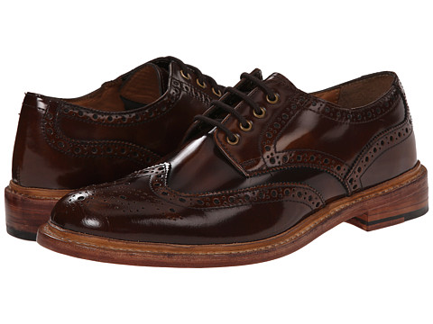 Lotus - Edward (Brown Hi Shine Leather) Men's Lace Up Wing Tip Shoes