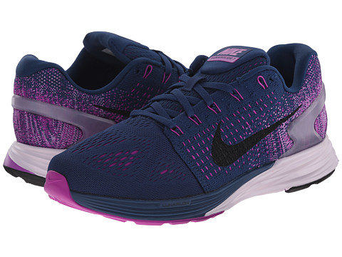 Nike - Lunarglide 7 (Brave Blue/Vivid Purple/Hyper Orange/Pink Foil/Black) Women's Running Shoes