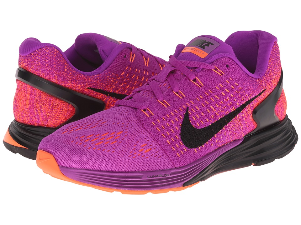 Nike - Lunarglide 7 (Vivid Purple/Hyper Orange/Pink Foil/Black) Women's Running Shoes
