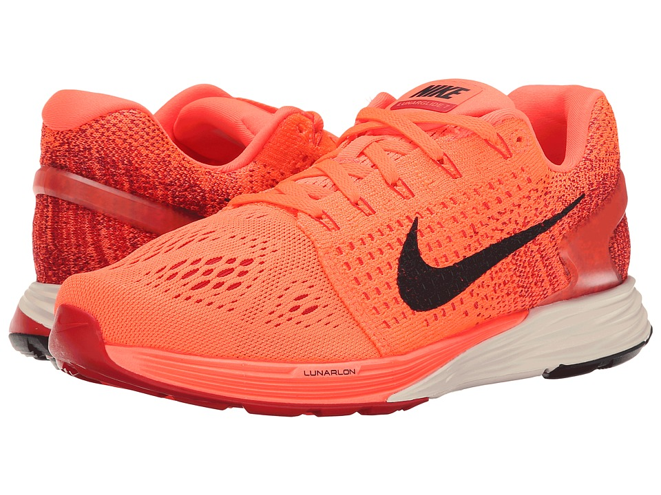 Nike - Lunarglide 7 (Hyper Orange/University Red/Raspberry Red/Black) Women