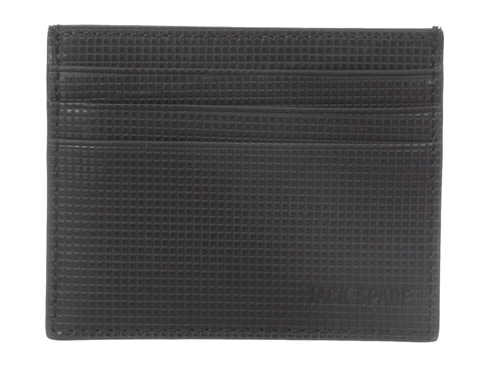 Jack Spade - Varick Leather Six Card Holder (Black) Credit card Wallet