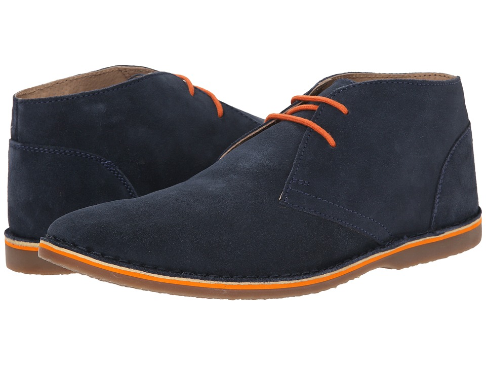 Lotus - Wickford (Navy Suede) Men's Lace Up Cap Toe Shoes