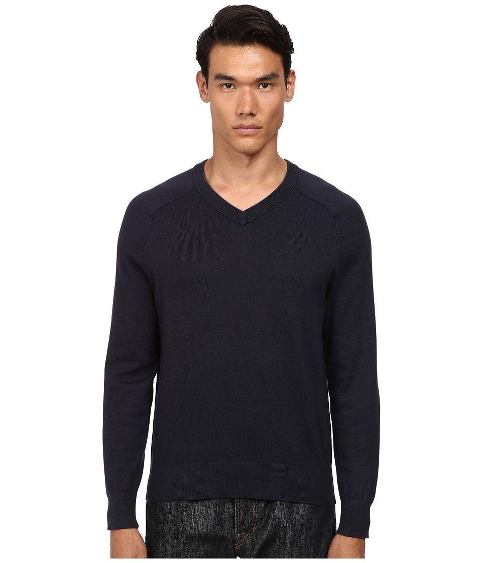 Jack Spade - Dexler Cotton V-Neck Sweater (Navy) Men