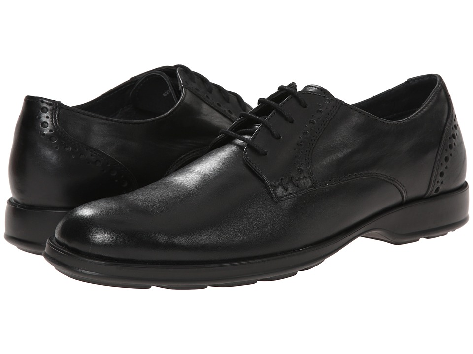 Lotus - Charlbury (Black Leather) Men's Lace Up Cap Toe Shoes