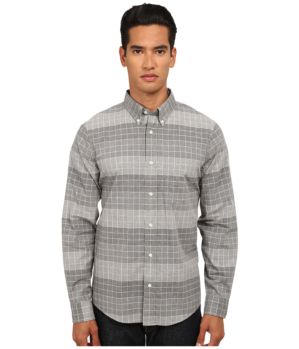 Jack Spade - Blanford Windowpane Shirt (Grey) Men