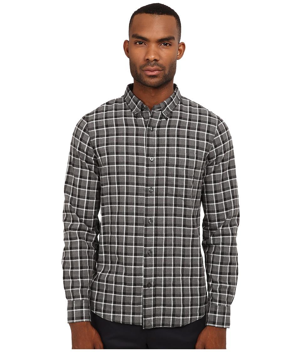 Jack Spade - Linfield Herringbone Check Work Shirt (Charcoal) Men's Clothing