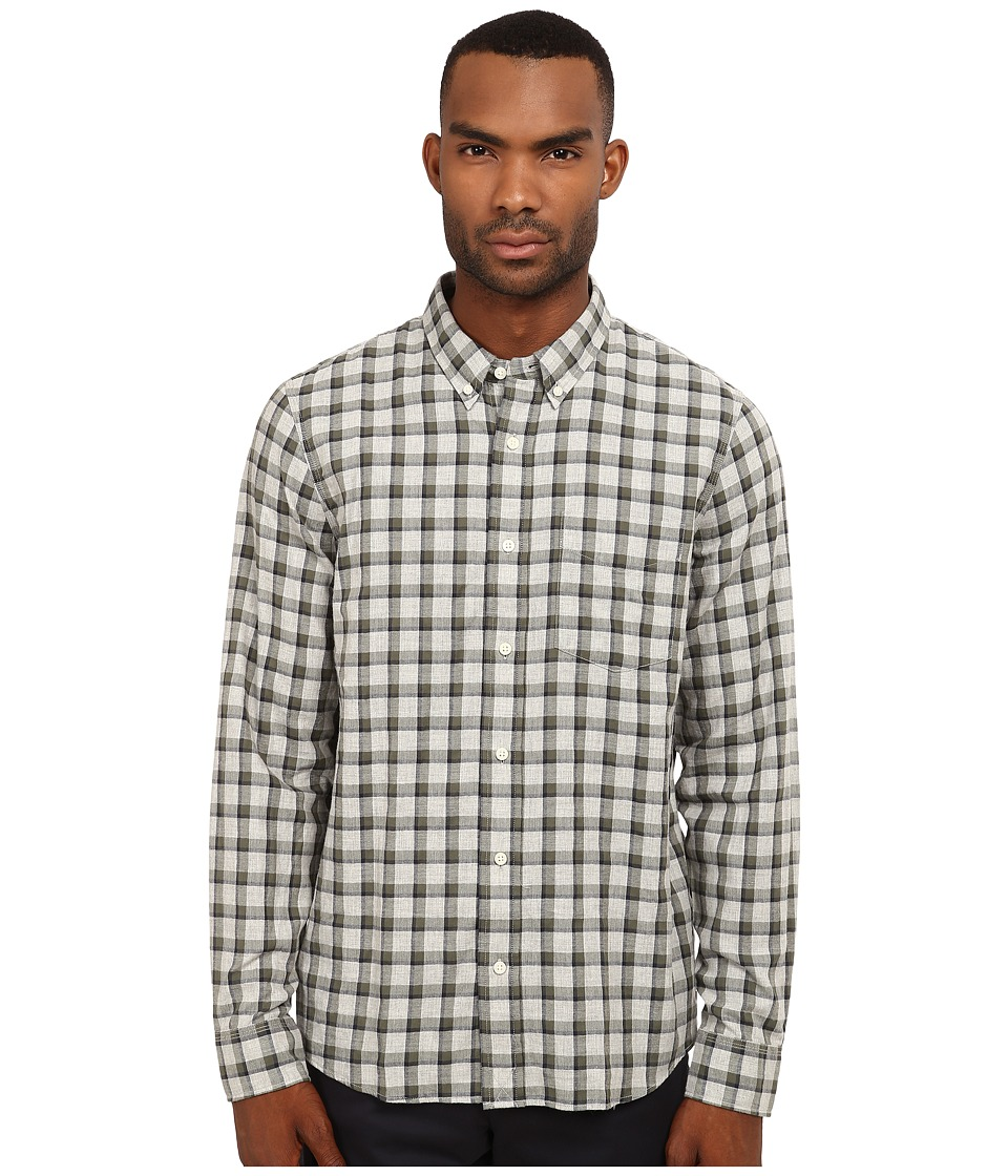 Jack Spade - Linfield Herringbone Check Work Shirt (Green) Men's Clothing