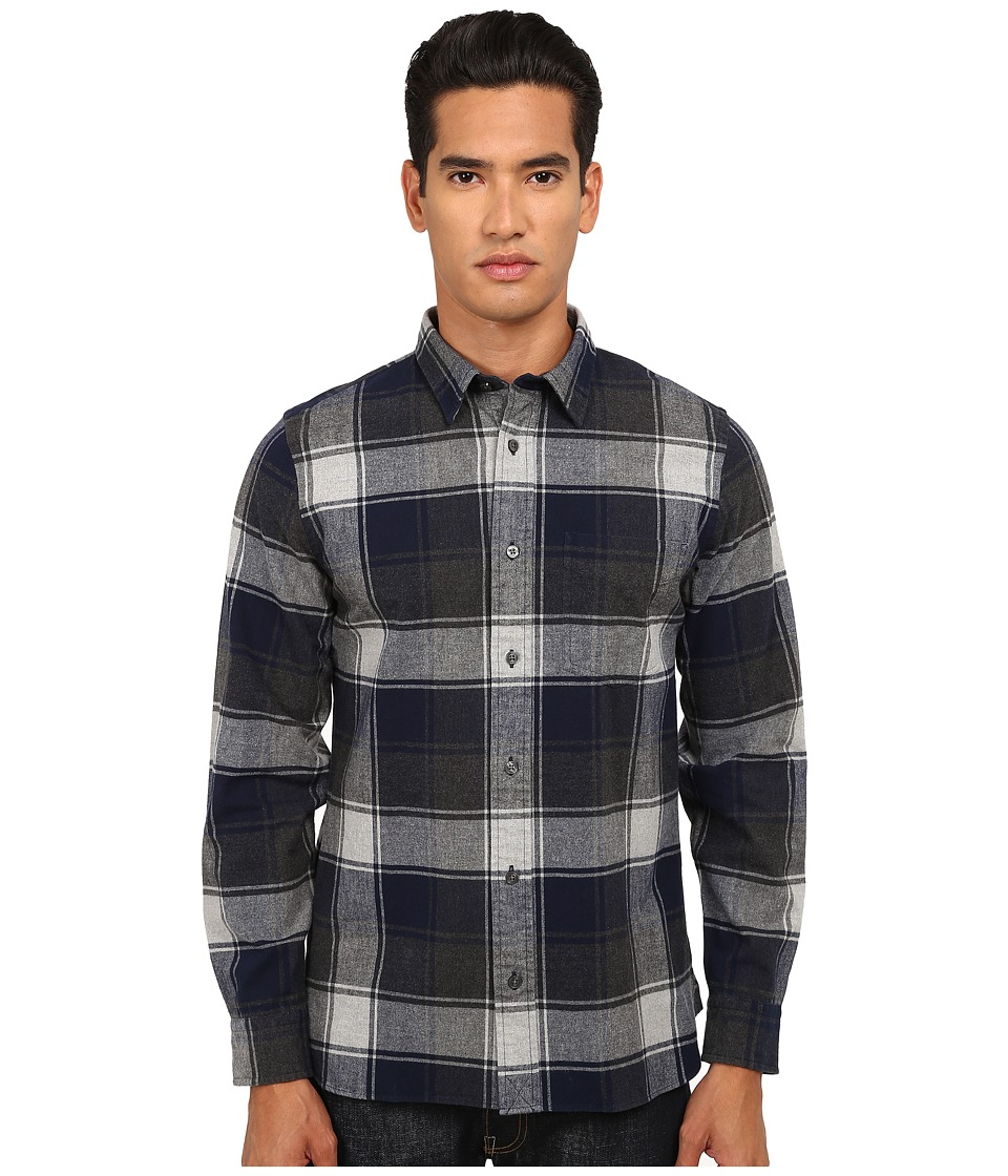 Jack Spade - Gillham Flannel Plaid Shirt (Navy) Men's Clothing