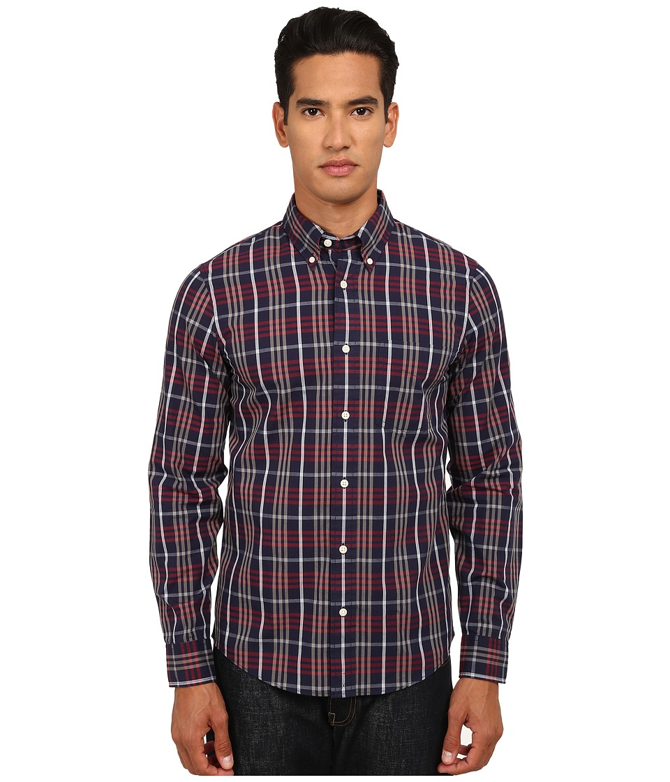 Jack Spade - Macdowell Tartan Shirt (Navy) Men's Clothing