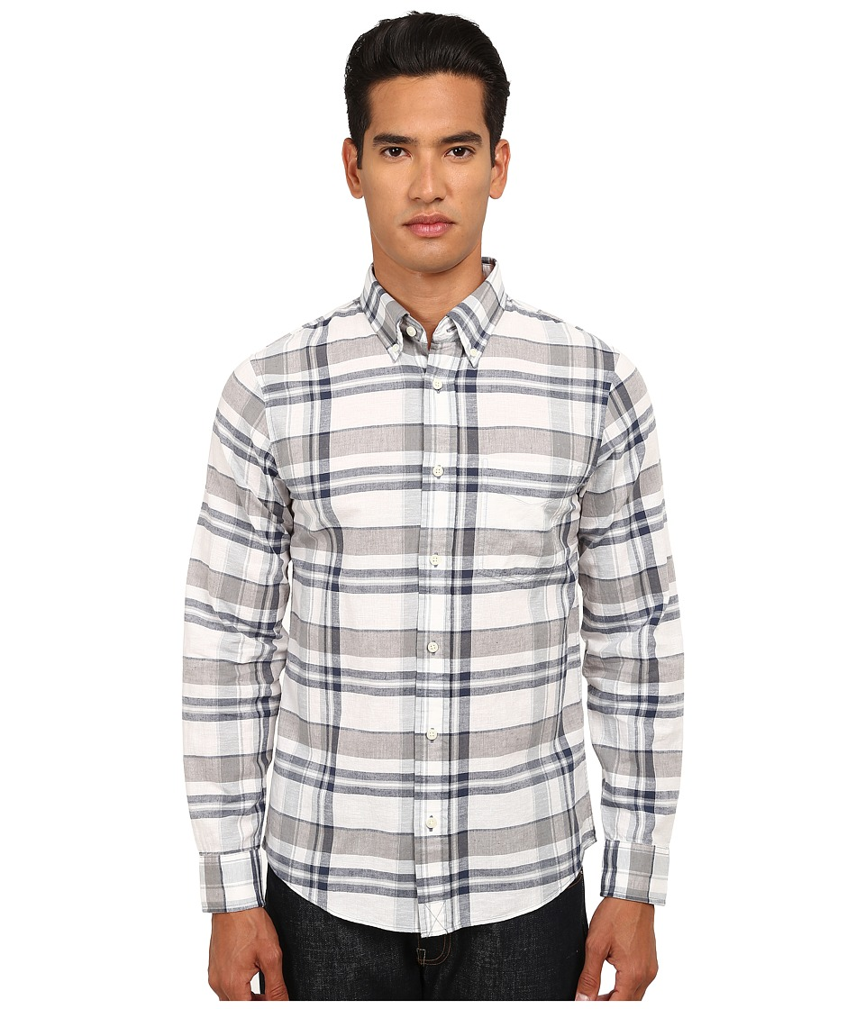 Jack Spade - Norris Plaid Shirt (White) Men