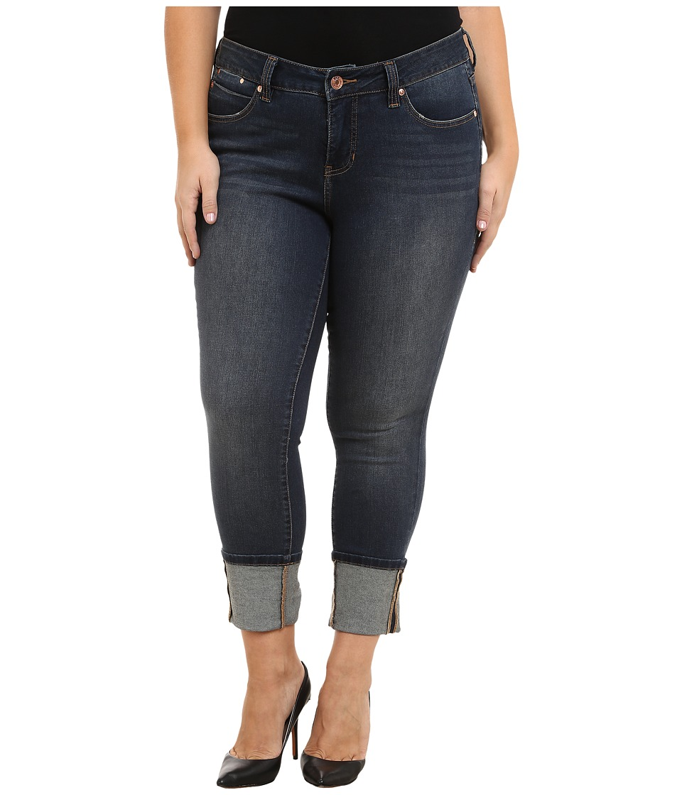 Jag Jeans Plus Size - Plus Size Evan Long Cuff Mid Rise Slim Ankle Jeans in Melrose (Melrose) Women's Jeans plus size,  plus size fashion plus size appare
