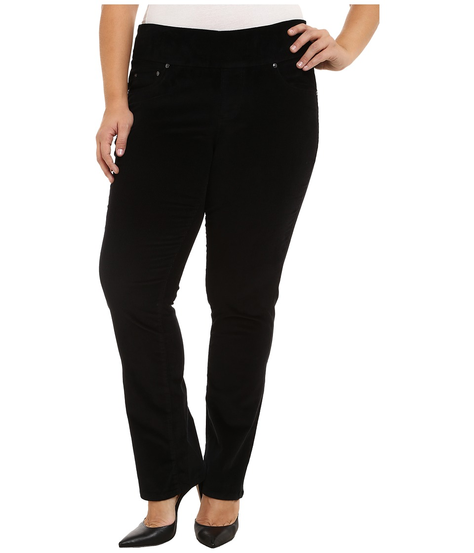 Jag Jeans Plus Size - Plus Size Peri Pull On Straight Jeans in Black (Black) Women's Jeans