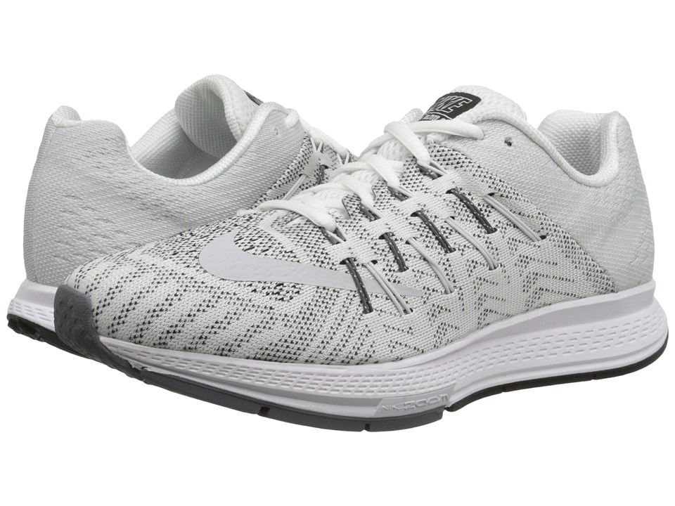 Nike - Air Zoom Elite 8 (White/Dark Grey/Black/Pure Platinum) Women's Running Shoes