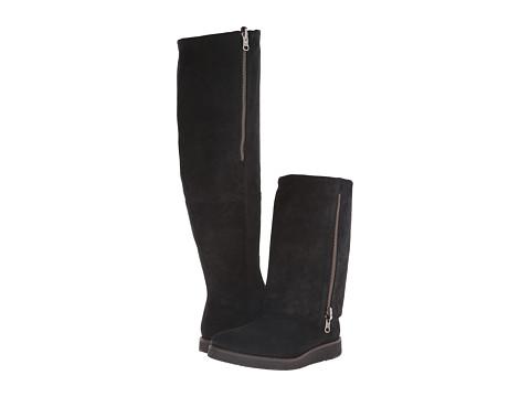 Johnston & Murphy - Bree Cuffed Boot (Black Waxy Suede) Women