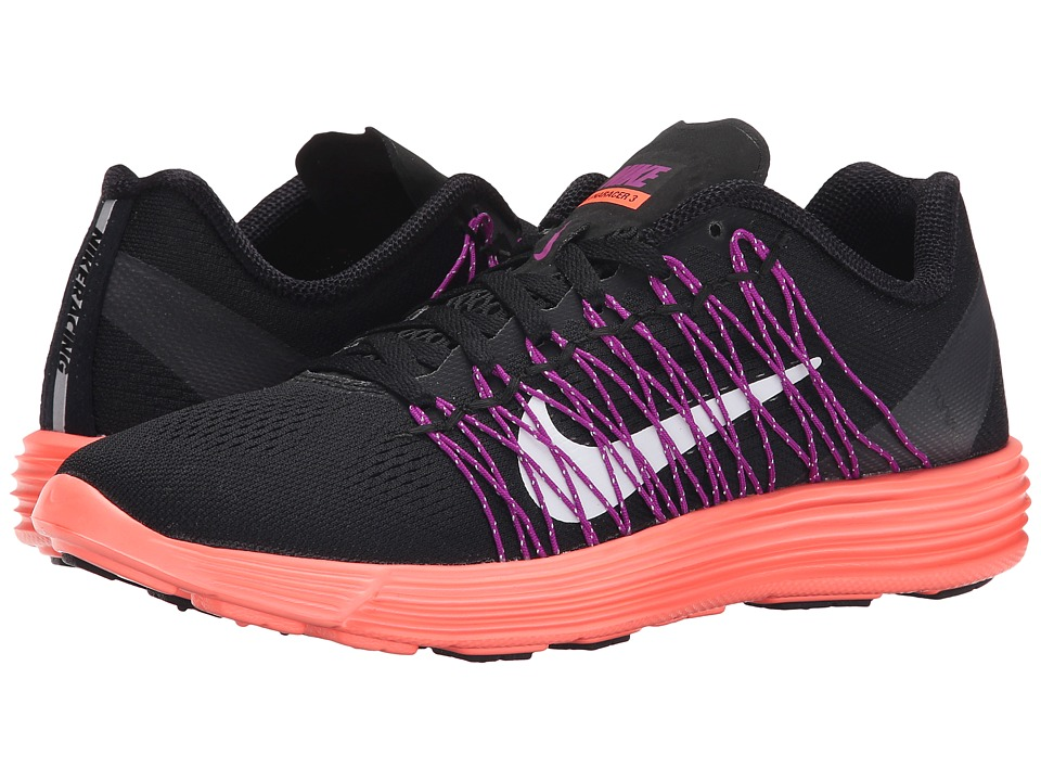 Nike - Lunaracer+ 3 (Black/Hyper Orange/Vivid Purple/White) Women's Running Shoes