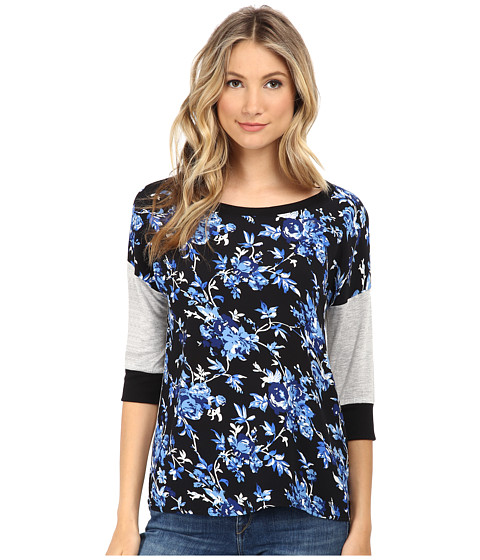 Brigitte Bailey - Multi 3/4 Sleeve Top (Blue) Women